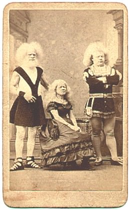 [ The albino Lucasie family from the Netherlands became one of Phineas Barnum's most popular exhibits in the second half of the 19th century.]