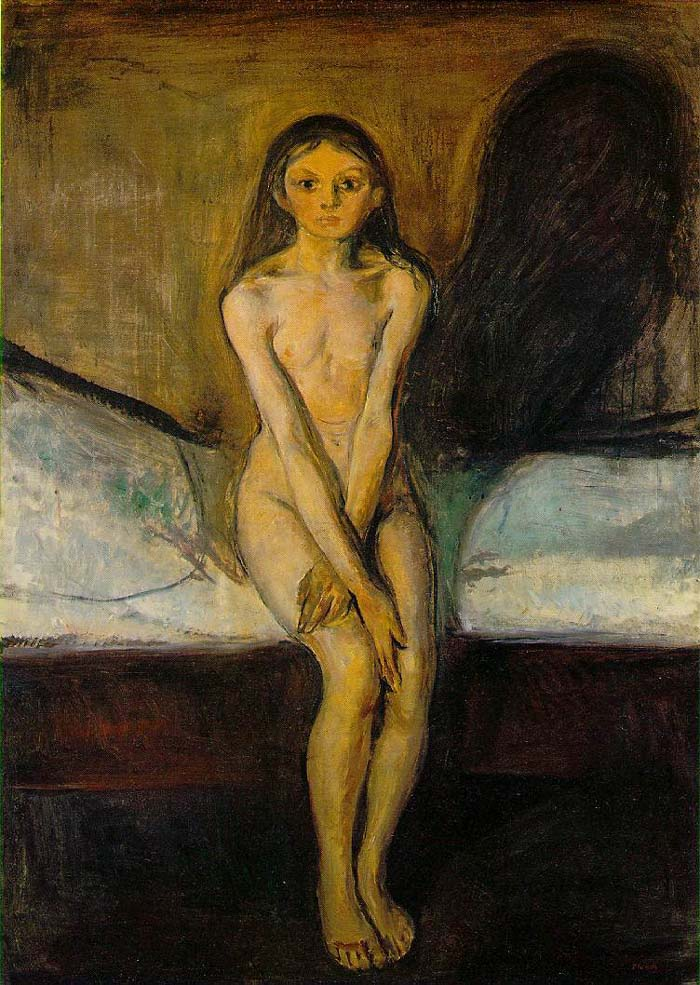 [ �Puberty�, 1895.  Edvard Munch (1863-1944)]