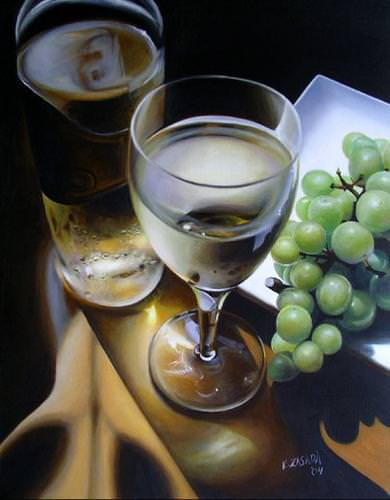 [ �White Wine and Grapes